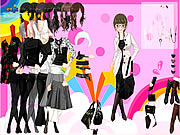 Click to Play Black and White Dress Up
