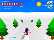 Click to Play Sonic 3D Snowboarding