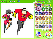 Click to Play The Incredibles Colorbook