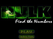 Click to Play Hulk Find the Numbers