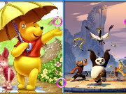 Click to Play Similarities - Winnie and Panda