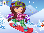 Click to Play Snowboarder Girl